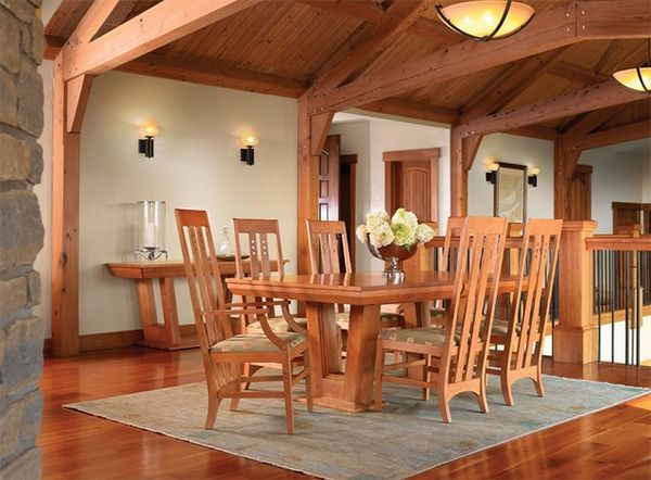 20 Craftsman Dining Rooms Featuring Natural Materials ◆ Craftsman Dining Room