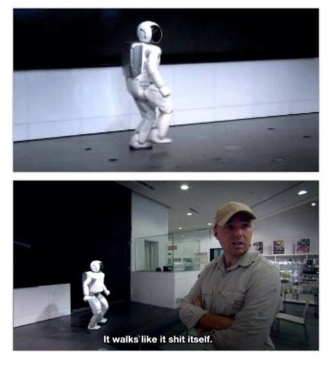 This is Asimo, the cleverest robot in the world... and Karl