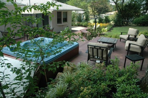 Patio Ideas Hot Tub Jacuzzi, Decks, Outdoor Furniture, Outdoor Living, Patio ,