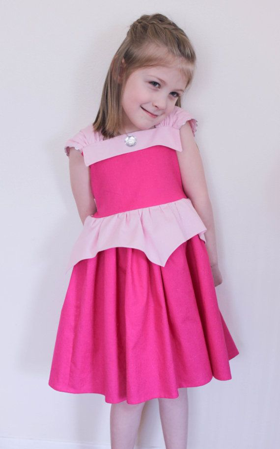 Disney Aurora Sleeping Beauty Glitter Practical Princess Dress Up and Play Dress Custom Sizing Made to Order
