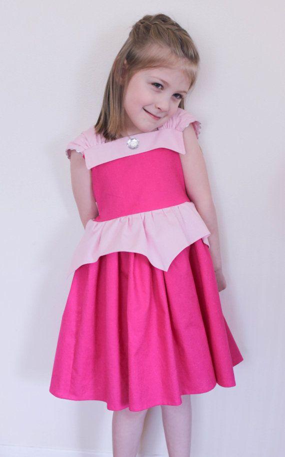 Disney Aurora Sleeping Beauty Glitter Practical Princess Dress Up and Play Dress Custom Sizing Made to Order
