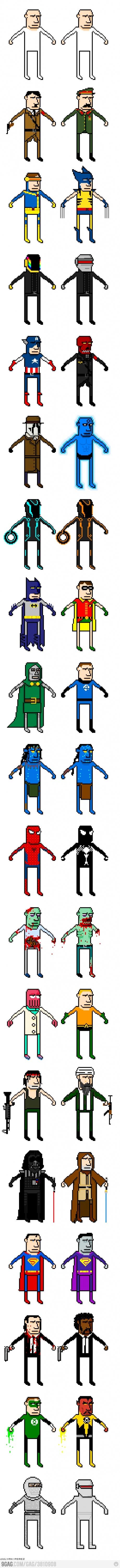 8-bit characters: Illustrations Comic Art, Ems 8 Bit, Evolution Infographic, Drawings, Dr. 8Bit, Ms Paintings, Couple, Animal, Comic Artworks