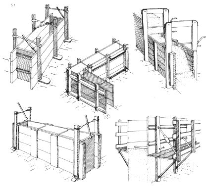 Rammed earth formwork from…