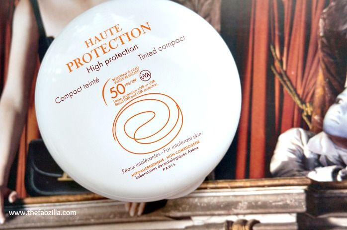 Avene Haute Protection Tinted Compact SPF50: Review and more photos at www.thefabzilla.com @Kath TheFabzilla