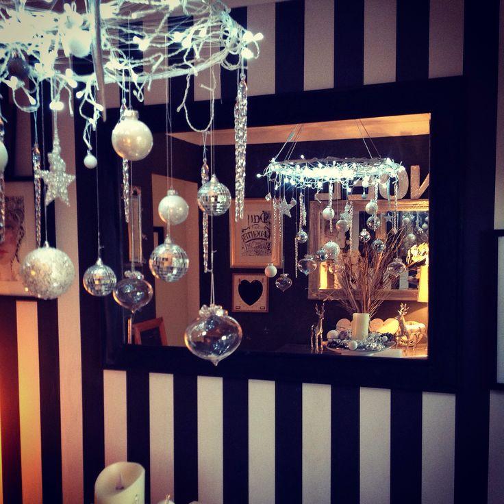 Diy Christmas hanging table decoration.