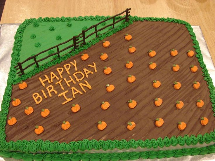 Pumpkin Patch Cake... Cute!