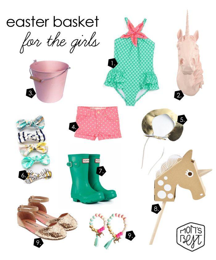 Easter Basket Inspiration for your Little Girls! via momsbestnetwork.com