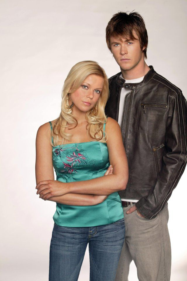 Still of Holly Brisley and Chris Hemsworth in Home and Away