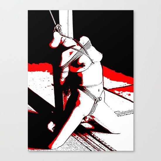 Bad, bad, Naughty Girl - sexy bdsm bondage 3 Canvas Print 20% Off sitewide! + Free Worldwide Shipping Today! #sexy #erotic #art #print #homedecor #wallart #sale