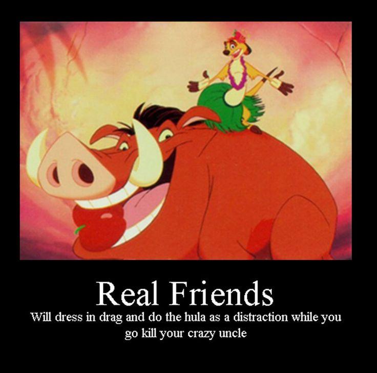 Real friends: True Friendship, No Worries, Best Friends, Not Namatata, Life Lessons, Lion King, Real Friends, True Stories, Disney Movie