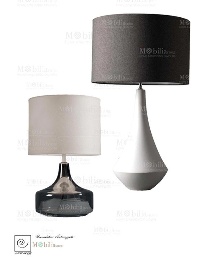 Lampade Moderne Mascagni con paralume in tessuto, disponibile in vetro o ceramica. Scopri le nuove ed eccezionali promozioni Mobilia Store...
