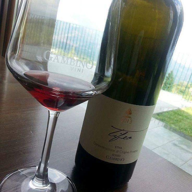 Reposted from @coranailandmakeup  #vino #wine #etna #winelover #instasicily #igsicilia #vineyard #sicily #winery #vigneto #winerytour #gambinovini #winetasting #winetourism #vinery #cellar #grapewines #whatsicilyis #igcatania #igsicilia #igsicilia #winemakers #ilovewine #wineoclock #grapevines  Da notare il colore ...riflessi aranciati e c'è un motivo ;-) Lui #Tifeo Etna Rosso prodotto da uve Nerello Mascalese impiantate su terreno vulcanico a 800 m.s.l.m. e affinate in grandi botti di…