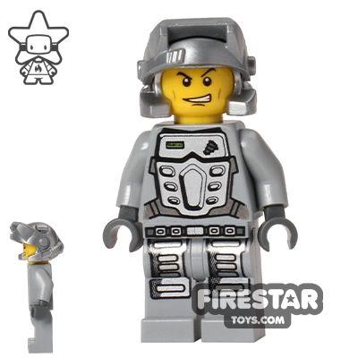LEGO Power Miners Mini Figure - Doc - Gray Outfit | Power Miners LEGO Minifigures | LEGO Minifigures | Firestartoys.com