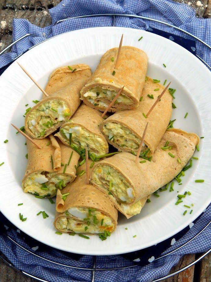 """Mézes finomságok...: """"Tortilla"""" snidlinges, avokádós tojáskrémmel töltv..."""