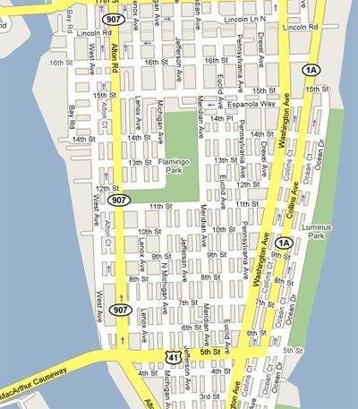 South Beach Florida Map.South Beach Florida Map South Beach The Real