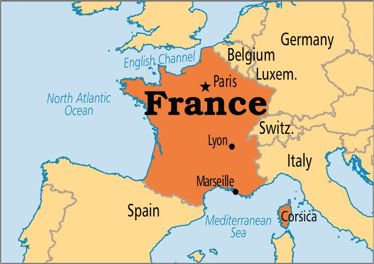 A map of France - Praying for France
