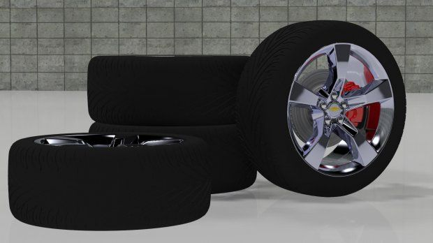Wheels Camaro 3d model free