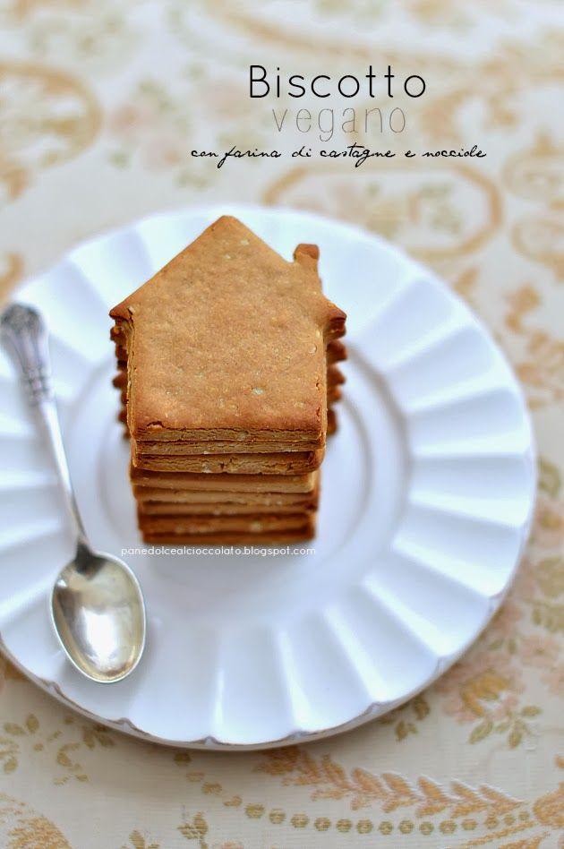 PANEDOLCEALCIOCCOLATO: Biscotti Vegani con farina di castagne e nocciole glutenfree