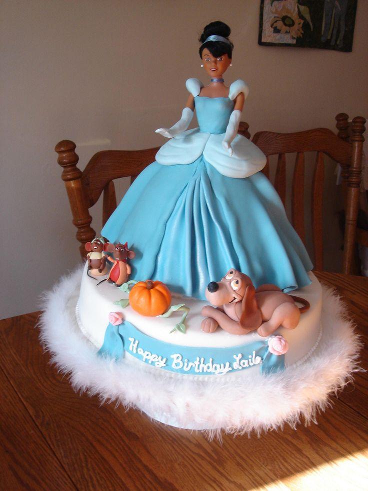 Cinderella Cake Cakes C  cakes  Pinterest  Barbie, Birthday cakes ...