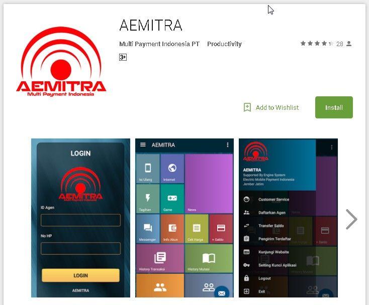 Aplikasi Android Apk Terbaru Aemitra Multipayment Indonesia Aemitra Pulsa Indonesia Aplikasi Android Aplikasi