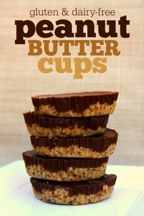 Gluten-Free & Dairy-Free Peanut Butter Cups: This peanut butter cup recipe works for any diet -- gluten-free, dairy-free, vegan.