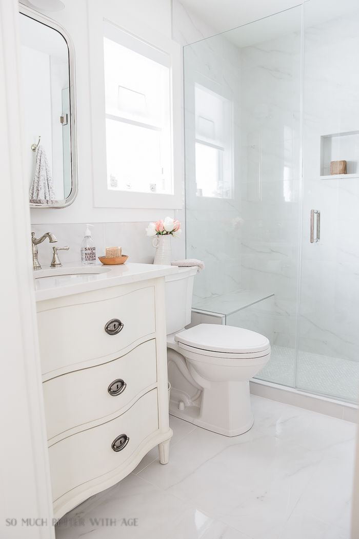 Small Bathroom Renovation And 13 Tips To Make It Feel Luxurious So Much Better With Age Small Bathroom Renovation Master Bathroom Renovation Small Bathroom Renovations