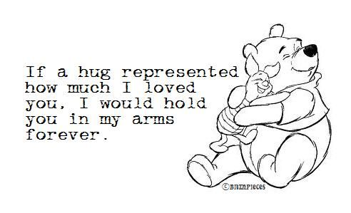 Who knew Pooh would express how I love my daughter? :)