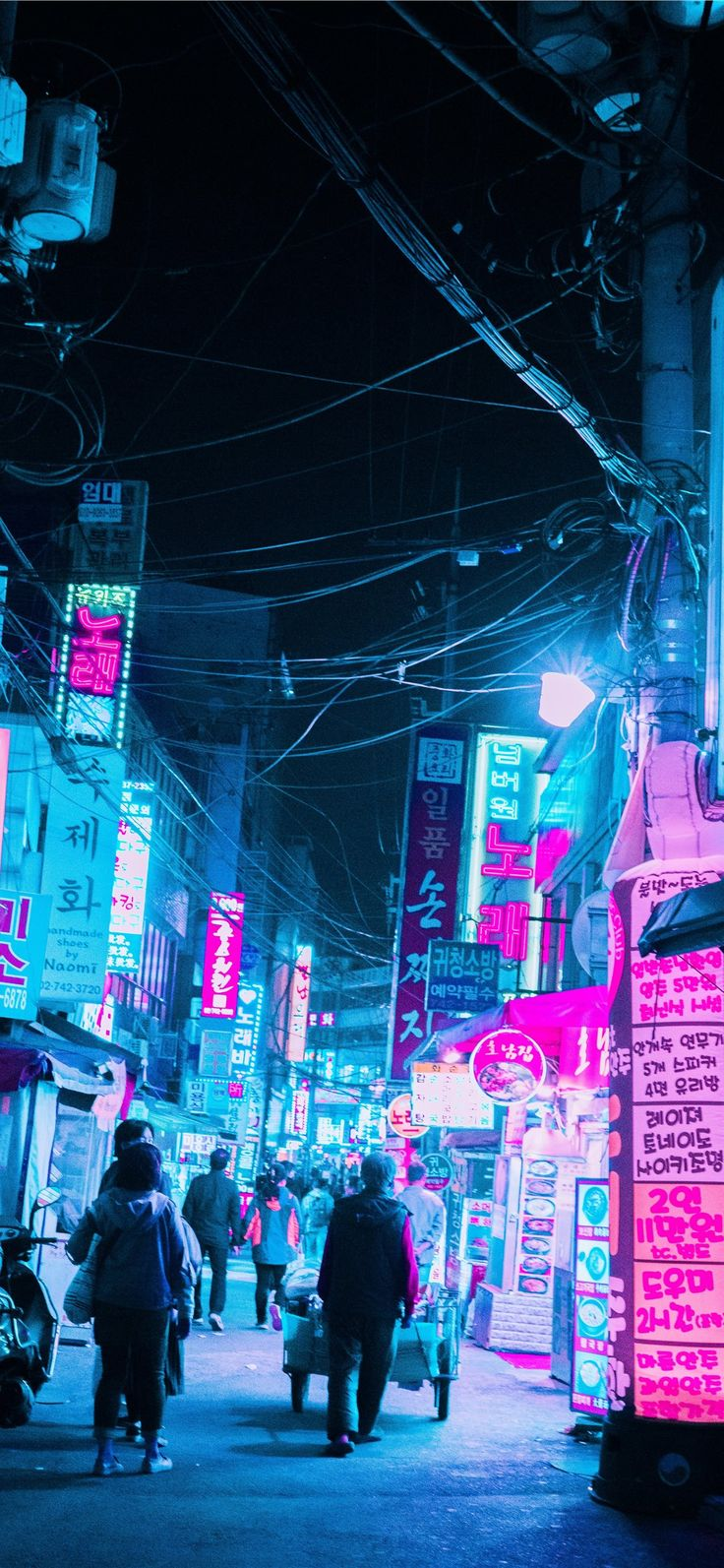 Seoul iPhone X Wallpapers Cyberpunk, Pink neon wallpaper