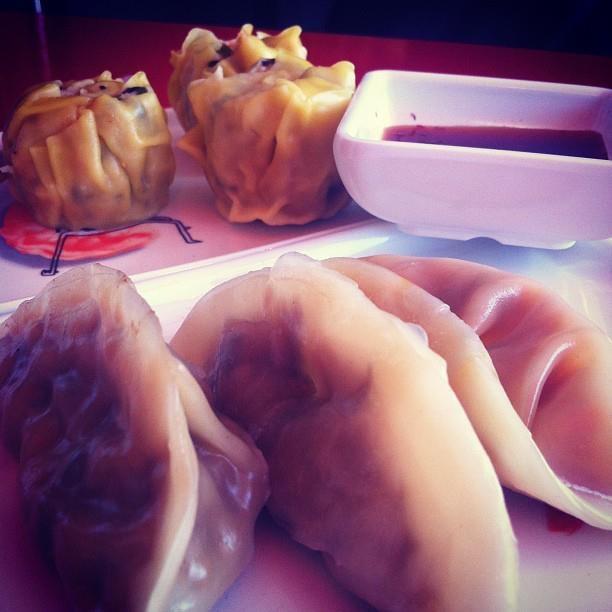 Steamed right before your eyes! Delicious dumplings from Happy Little Dumplings.