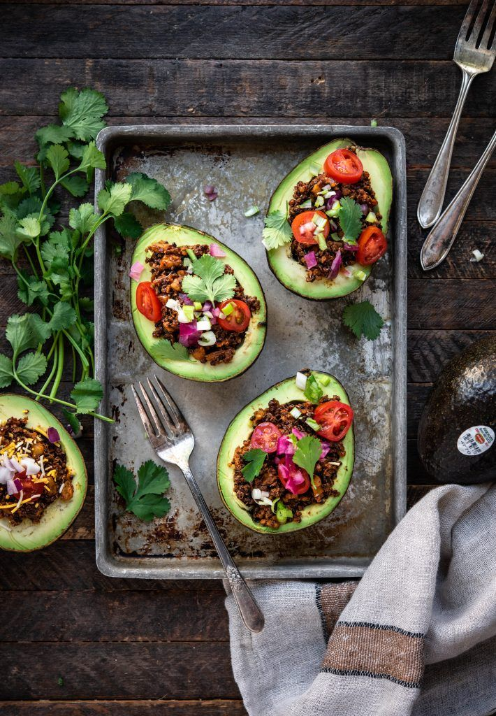 Taco Stuffed Avocados Vegan