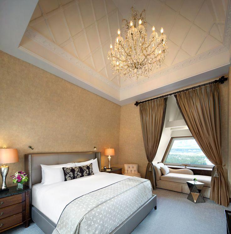 Luxury Bedroom - FairmontBanff Springs Hotels - courtesy of Banff Horizons Travel #banffsprings #fairmont #luxury #hotel #design #decor