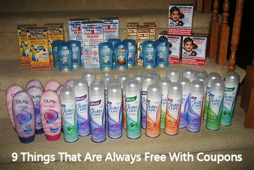 9 Things You Can Always Get For Free With Coupons via MrsJanuary.com #extremecouponing