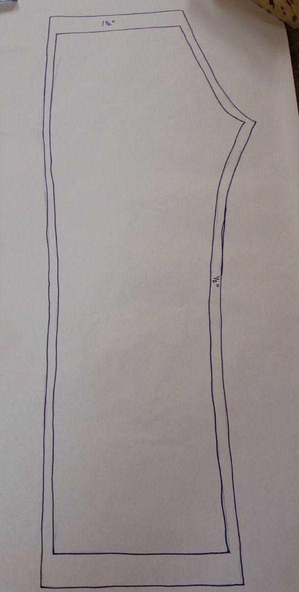 Drawn Pattern for Pajama Pants