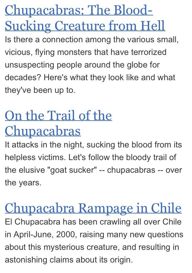 Chupacabra real or legend ?