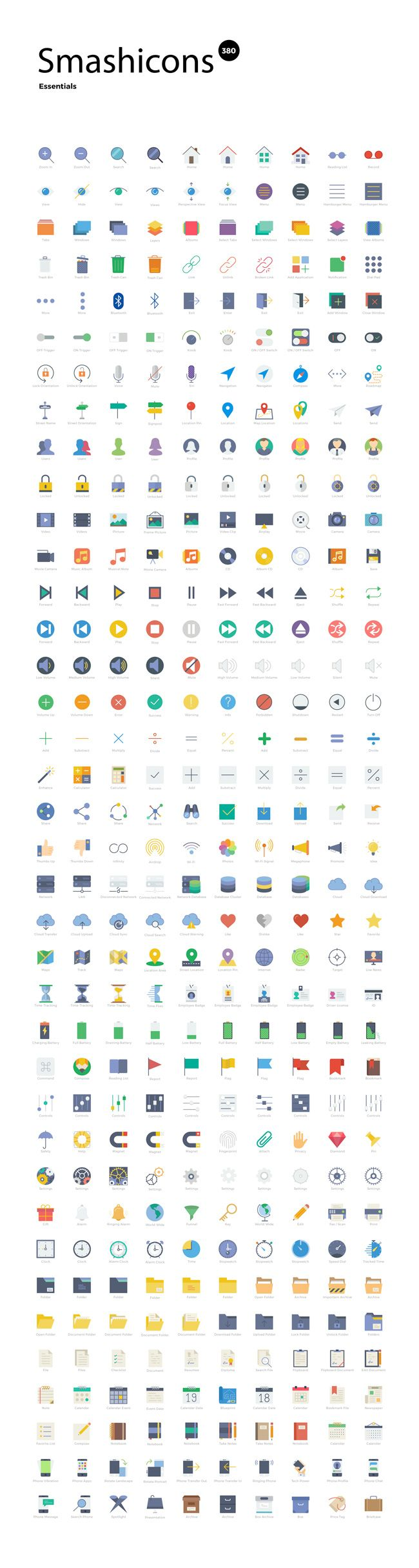 380 Free Flat Style Icons From Smashicons (exclusive)