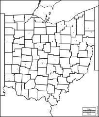 Ohio: free map, free blank map, free outline map, free