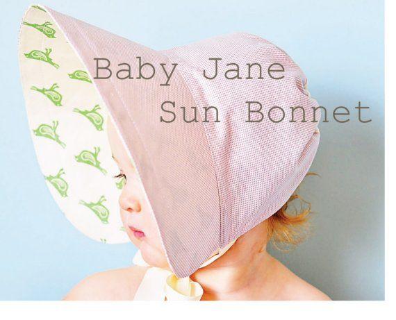 Baby bonnet sewing pattern - love it