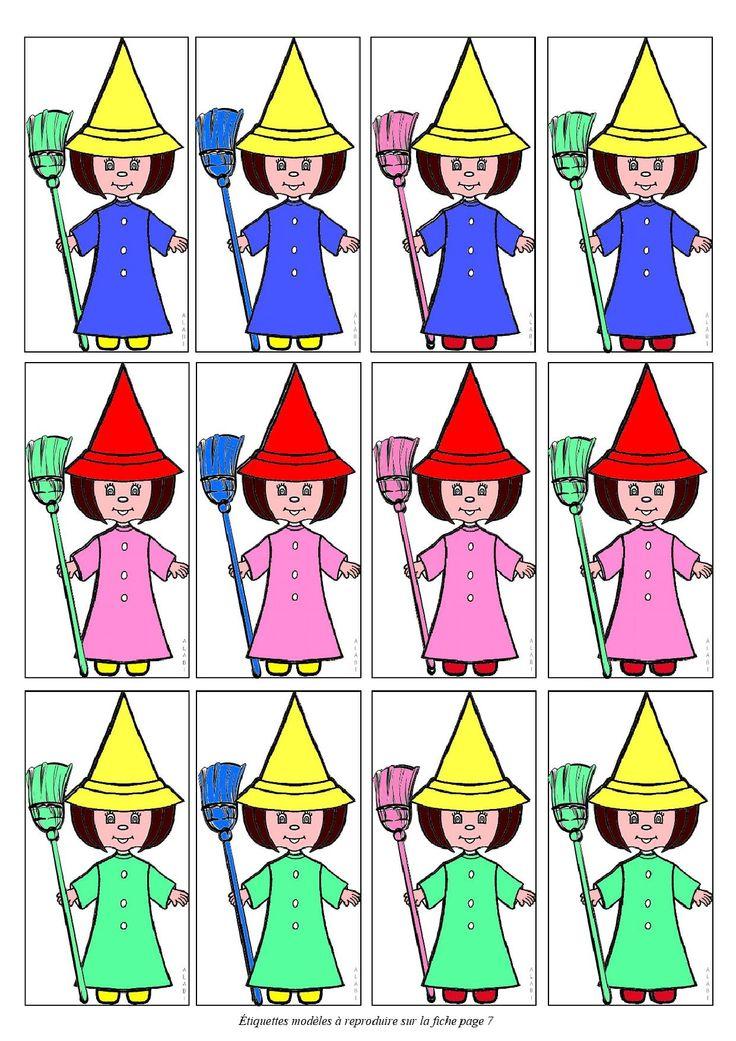 """Jeu des sorcières (principe des mathoeufs) à télécharger sur """"la maternelle des loupiots"""", site sur lequel je n'arrive pas à """"pinter"""" !"""