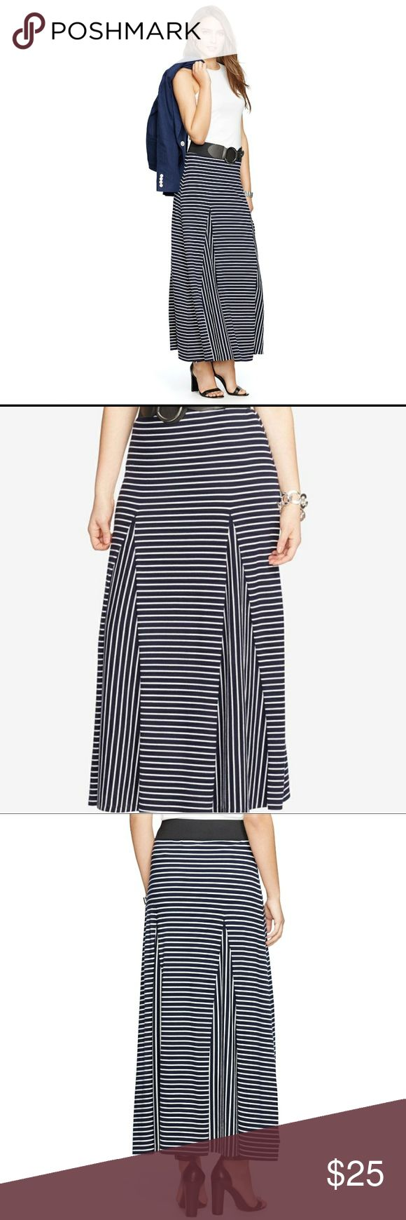 Ralph Lauren Long Skirt See photo for details  Size: 3x   Color Navy/ White strips    Material  56% Cotton  38% Modal  6% Elastane Ralph Lauren Skirts