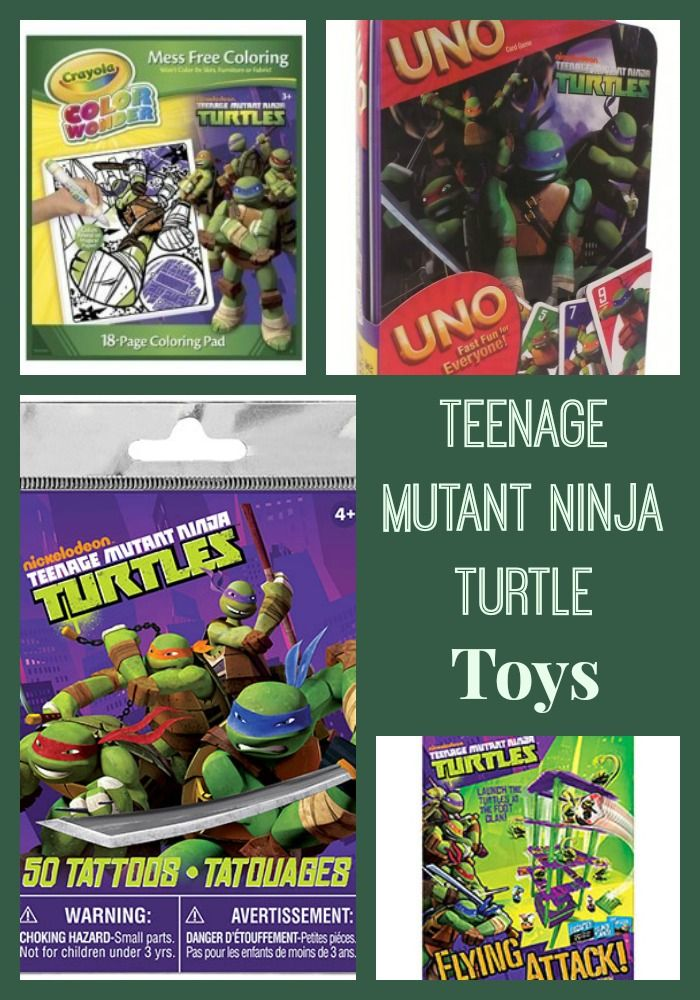 A selection of Teenage Mutant Ninja Turtle Toys