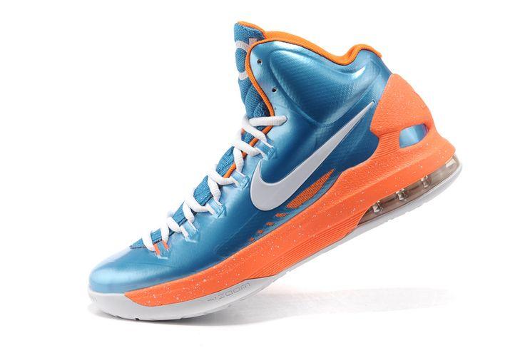kevin durant shoes 2013 Nike KD V DarkTurquoise Silver Team Orange