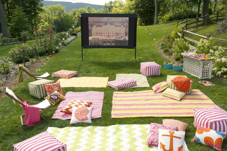 Outdoor Movie Night.; outdoor party themes
