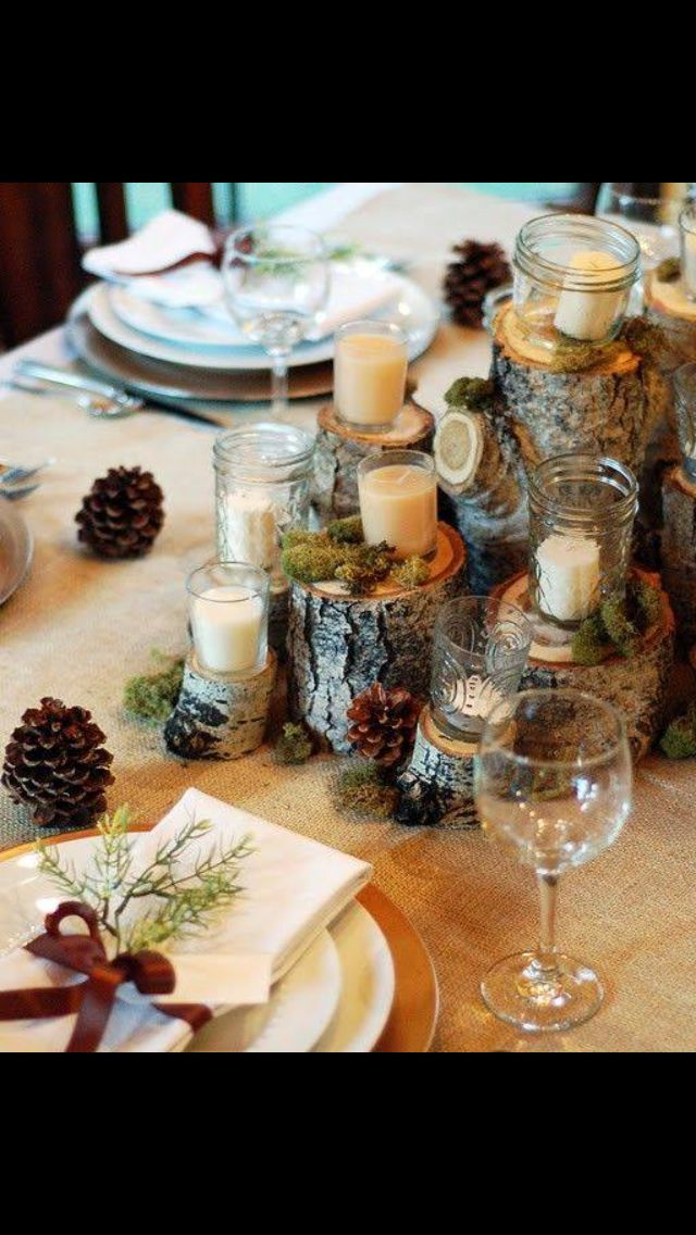 Christmas table decoration idea
