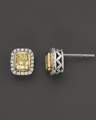 yellow diamond earrings.