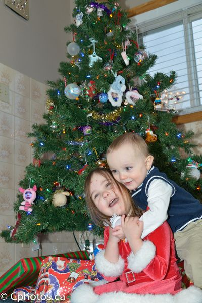 Christmas Sibling Fun.