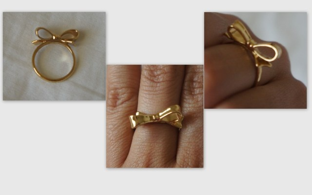 kate spade gold bow ring