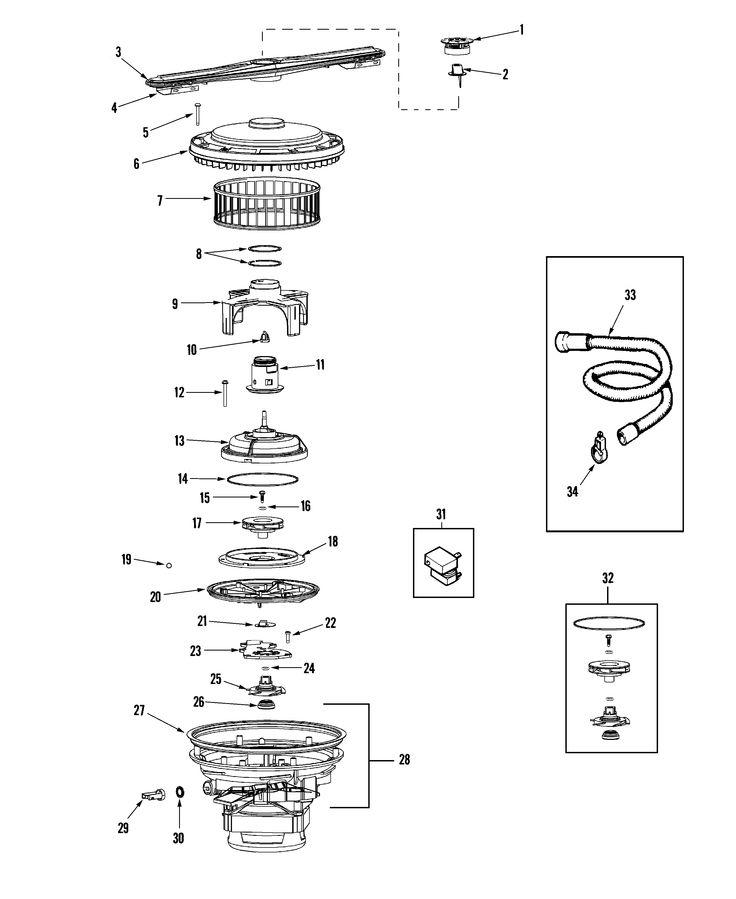 Pump Amp Motor Diagram Amp Parts List For Model Pdb2600awn