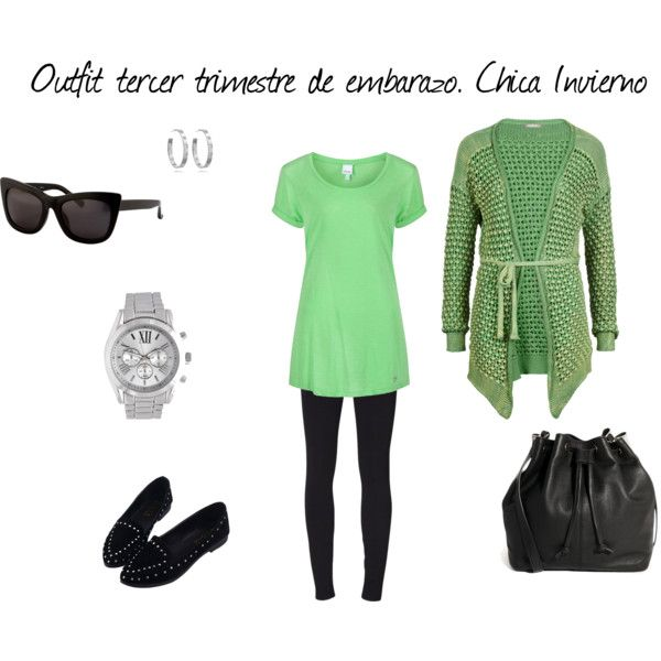 """""""Outfit tercer trimestre de embarazo. Chica Invierno"""" by marianne-chama on Polyvore"""