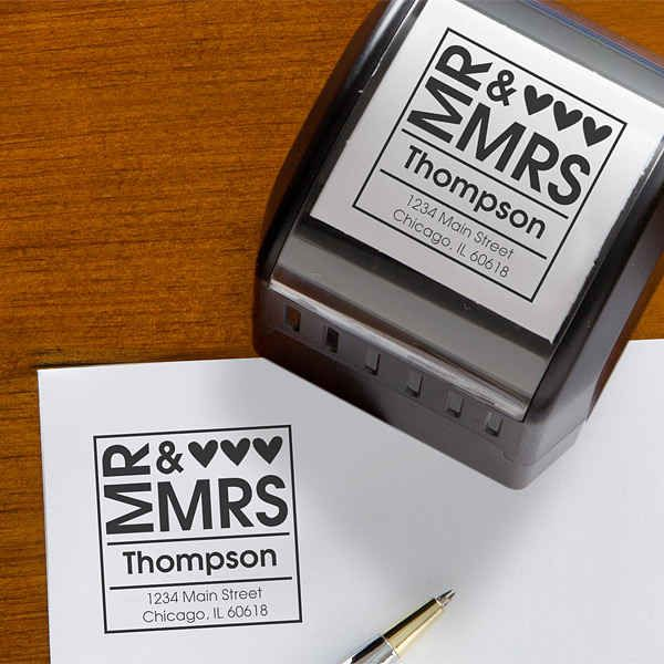Use a personalized return address stamp (or stickers) to save tons of time.