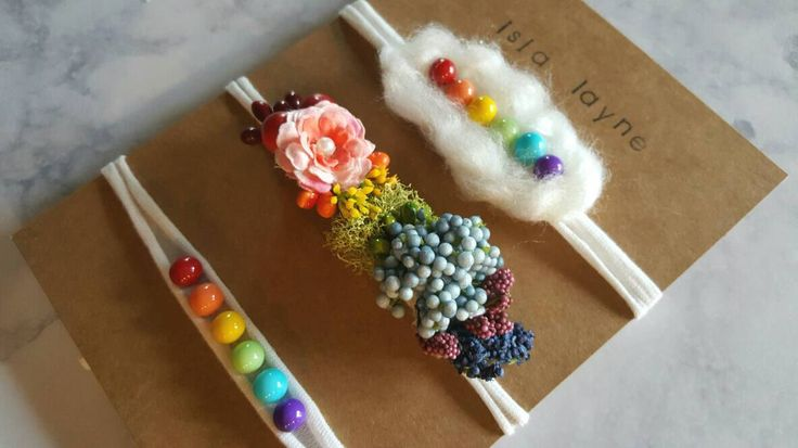 3 piece tieback headband set- rainbow baby-newborn photography-newborn tieback set-rainbow theme- newborn gift-photography prop-tiebacks by IslaLayne on Etsy https://www.etsy.com/listing/470836294/3-piece-tieback-headband-set-rainbow